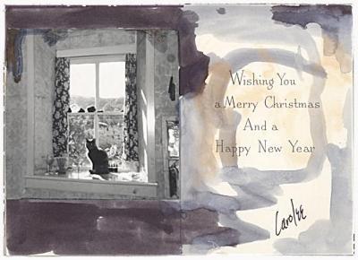 Carolee Schneeman Christmas Card to Joseph Cornell, 196-?