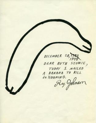 Ray Johnson Letter to Ruth Szowie